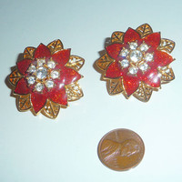 Precious Red Blossom Earrings