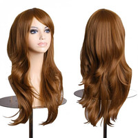 Women's Brown Cosplay Curly Wigs