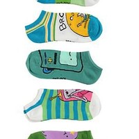 Adventure Time Characters No-Show Socks 5 Pair - 177377