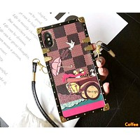 LV Tide brand all-inclusive diagonal cross strap iphonex mobile phone case cover