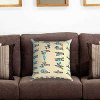 Avatar Water Scroll Bending Pillow Cover , Custom Zippered Pillow Case One Side Two Sides