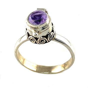 Alexandrite Poison Sterling Silver Ring
