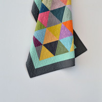 Modern Baby Quilt, Baby Quilt, Geometric Baby Bedding, Quilted Wall Hanging, Triangle Baby Bedding