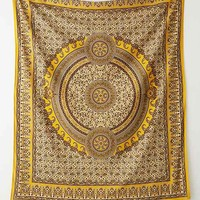 Magical Thinking Sunshine Paisley Tapestry- Yellow One