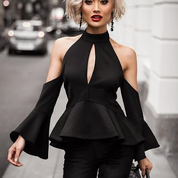 Indi Glamour Black Elegant top