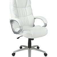 High Back PU Leather Executive Office Desk Task Computer Chair w/Metal Base O18W