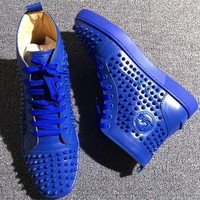 Cl Christian Louboutin Louis Spikes Style #1876 Sneakers Fashion Shoes - Best Online Sale