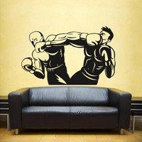 ik1366 Wall Decal Sticker kick boxing ring Gloves Tournament living room gym