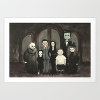 Addams Family Art Print by CreepyCuhcakes