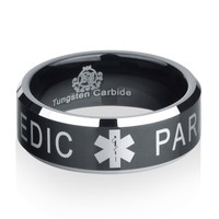 Black Tungsten Paramedic Ring