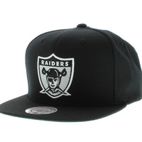 Mitchell And Ness Oakland Raiders Snapback - The Solid Snap Black [SOLD OUT]
