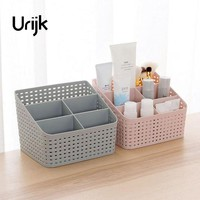 Urijk Makeup Organizer Storage Box Desk Office Organizer Cosmetics Skin Care Plastic Storage Drawer Boxes Storage Remote Home