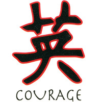 COURAGE Temporary Tattoo 1.5x2