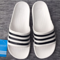 ADIDAS fashion stripe slippers converse slippers White