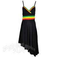Rasta Stripe Angled Bottom Dress – Women's | RastaEmpire.com