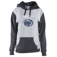 Official NCAA Penn State  Nittany Lions - 01AMDF16 Unisex Color Block Kangaroo Pocket Pullover Hoodie