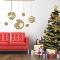 Christmas Ornaments Wall Decal