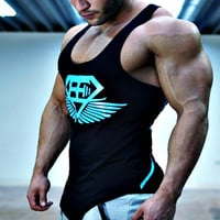 Musculation 2016 gyms vest bodybuilding clothing fitness men undershirt tank tops tops golds gyms undershirt Sportswear jerseys