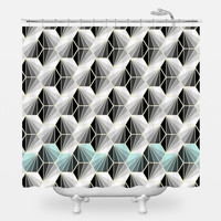 Natural Geometry Shower Curtain