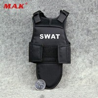 "1:6 Scale 4D Assembling Black Tactical Bullet Proof Vests Mode for 12"" Action Figure Body"