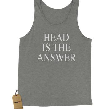 Head Is The Answer Jersey Tank Top for Men