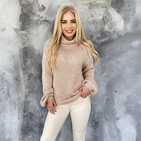 Sweet & Snuggly Turtleneck Knit Sweater