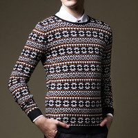 Men Knitted Sweaters Men's Casual Slim Fit Large Size Round Neck Sweaters and Pullovers Men Clothing Coats BL