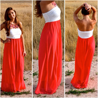 Think Lovely Maxi - Coral