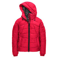Abbott Packable Hooded 750 Fill Power Down Jacket Red