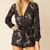 dark magnolia - constructed romper with nude lining - black