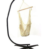 Hammock Chair Swing With C Stand Combo