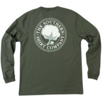 Southern Shirt Company Signature Logo Long Sleeve Tee- Thyme