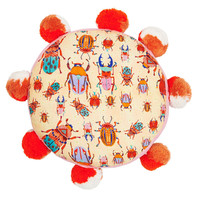 Beetles Pom Pom Cushion