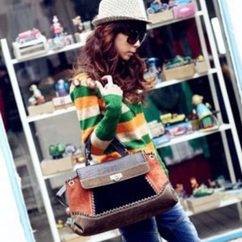 Women Classical Fashion One Shoulder Tote Bag On Sale = 4432221252