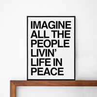 PEACE posters print, typography art, home wall decor, mottos, life motto, freedom, no war, people, decorative art, quote, inspirational