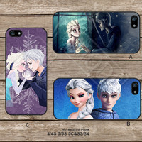 Disney Frozen Elsa and Jack frost iPhone5s Case iPhone 4 case iPhone 5C Case iPhone5 Case iPhone Case Samsung Galaxy s3 Galaxy s4 - M5222