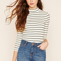 Striped High-Neck Top