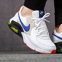 Nike Air Max Excee 90 new men's and women's color block air cushion sneakers Shoes White