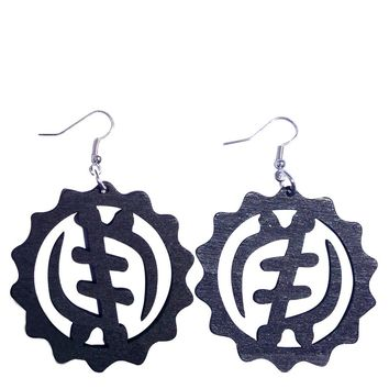 Gye Nyame Earrings (3 colors) | African earring | Natural hair | Afrocentric | jewelry | accessories