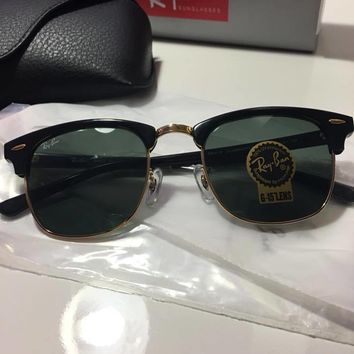 Ray Ban Clubmaster Sunglasses RB3016 W0365 Black 51mm Classic