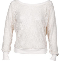 Brushed Lace Pullover