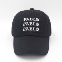 PABLO BEAR Embroidered Baseball cotton cap Hat