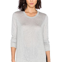 Lanston Slit Rib Paneled Sweatshirt in Heather
