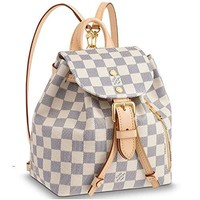 Louis Vuitton Damier Azur Canvas Backpack Handbag Sperone BB Article: N44026 Made in France