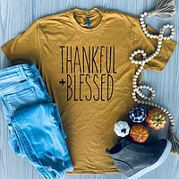 Thankful + Blessed Tee
