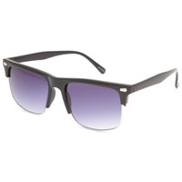 Blue Crown Oversized Club Sunglasses Black One Size For Men 23371510001