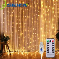 USB LED Curtain Light Fairy String Lights 8Mode 3X3M 3X1M 3X2M Fairy Garland For New Year Christmas Outdoor Wedding Home Decor