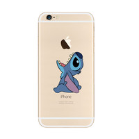 Disney Lilo & Stitch Cartoon Eat Apple iPhone 6s 6 Plus SE 5s 5 Soft Clear Case