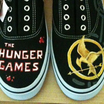 Hand Painted Shoes - Hunger Games