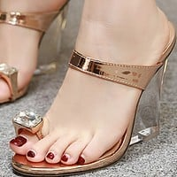 Hot style flip-flops with thick heel and high heel shoes